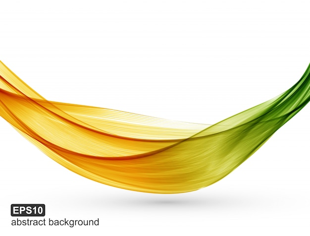 Abstract background with multi-colored lines on white background.