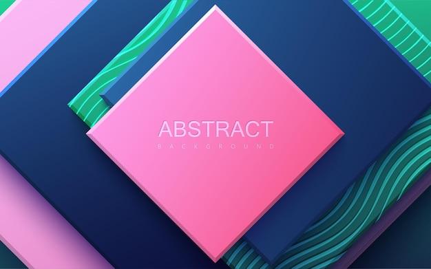 Абстрактный фон с разноцветными геометрическими фигурами