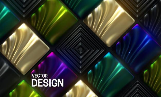 色とりどりの華やかなモザイクタイルと抽象的な背景