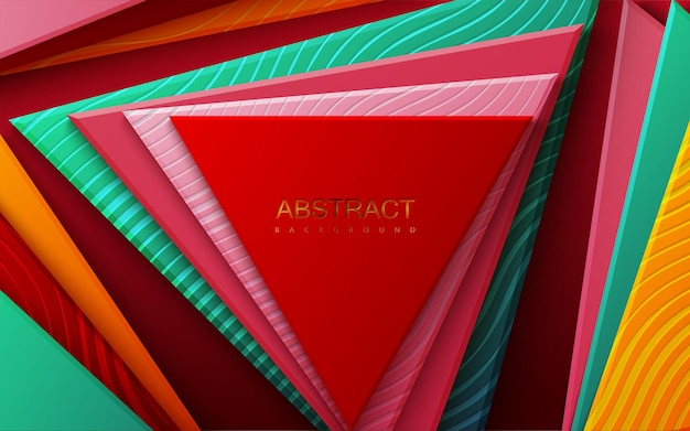 다 색 삼각형 추상 배경