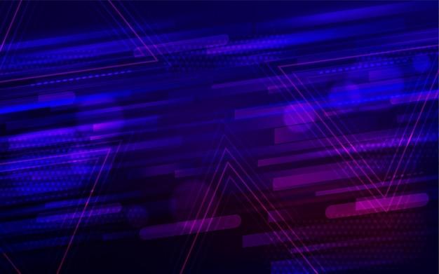 Абстрактный фон с неоновой растяжкой и полосой
