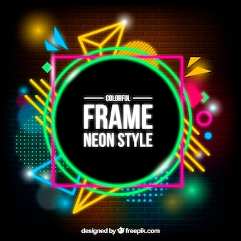 Abstract background with neon style