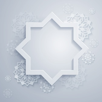 Abstract background with octagonal and geometric ornament