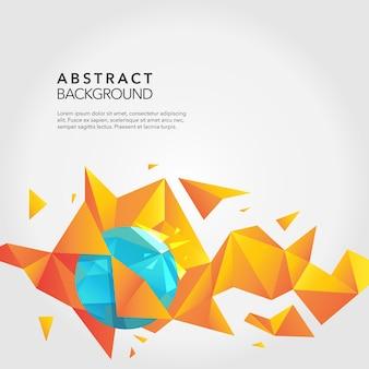 オレンジファセットによる抽象的な背景