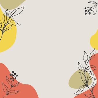 Абстрактный фон с органическими всплесками пастели и листьев иллюстрации