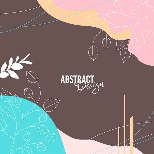 Abstract background with organic splash in pastel nude colors.