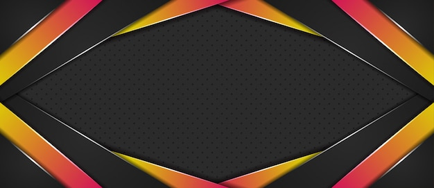 Abstract background with overlap layers