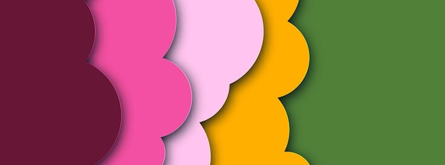 Abstract  background with paper cut shapes banner design. vector illustration.