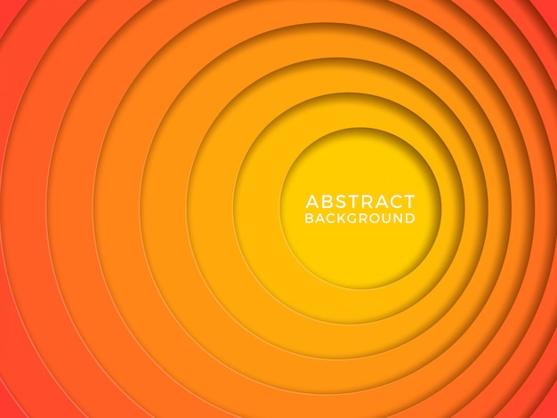 Abstract background with papercut circles