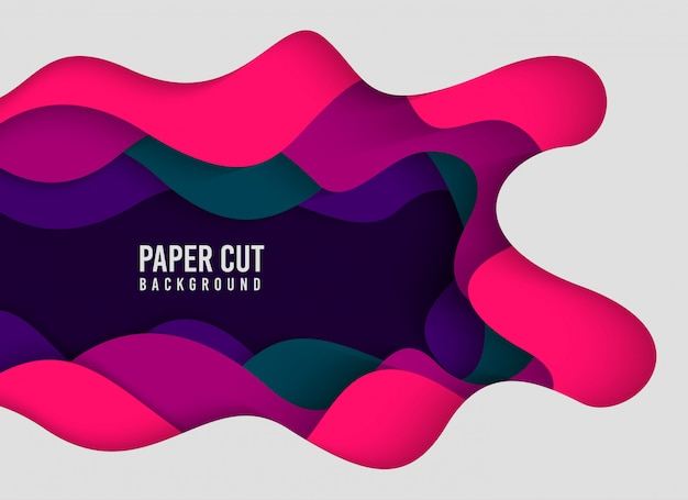 Abstract background with papercut style