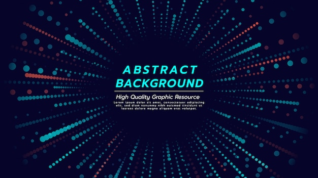 Abstract background with particles spread out of center.
