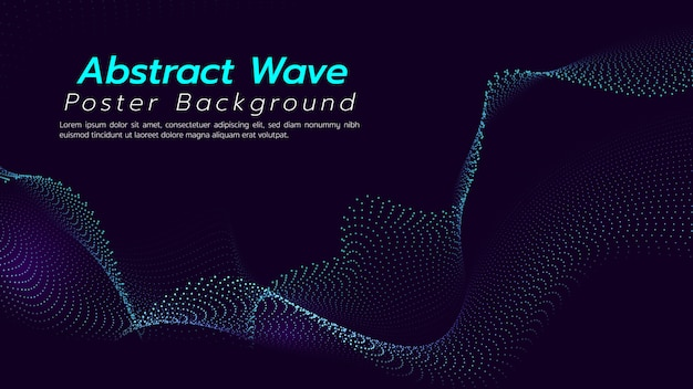 Abstract background with particles wave. illustration about technology concept.
