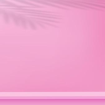 ピンク色の幾何学的な3d表彰台と抽象的な背景。ベクトルイラスト