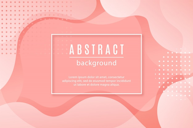 Abstract background with pink fluid shapes.