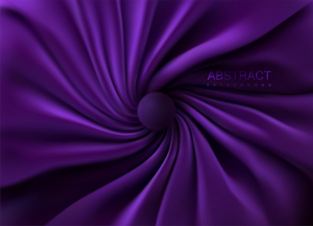 Абстрактный фон с фиолетовым закрученным текстилем