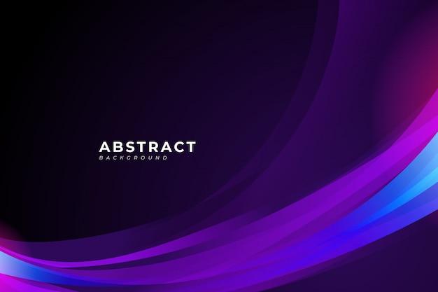 포스터, 배너, 브로셔, 방문 페이지에 대 한 보라색 물결과 유체 디자인 요소와 추상적 인 배경을합니다.