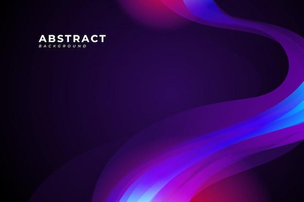 포스터, 배너, 브로셔, 방문 페이지에 대 한 보라색 물결과 유체 디자인 요소와 추상적 인 배경을합니다. 프리미엄 벡터