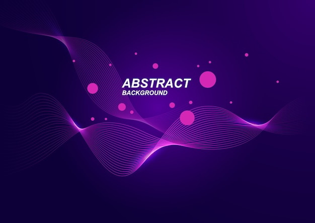 Abstract background with purple wave minimalist style.