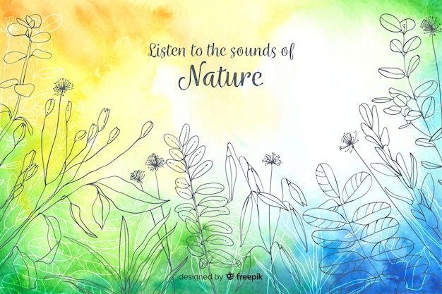 Abstract background with quote about nature