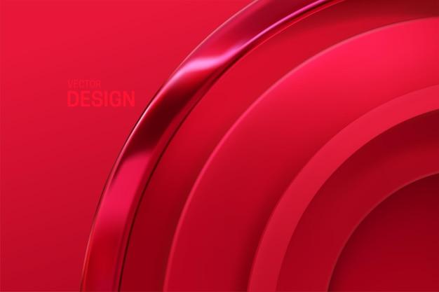 붉은 기하학적 형태와 추상적 인 배경