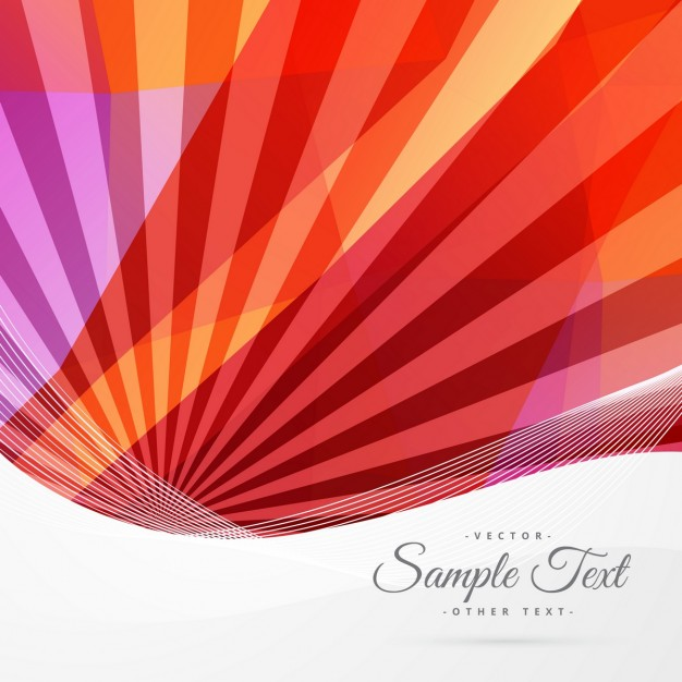 Abstract background with red rays