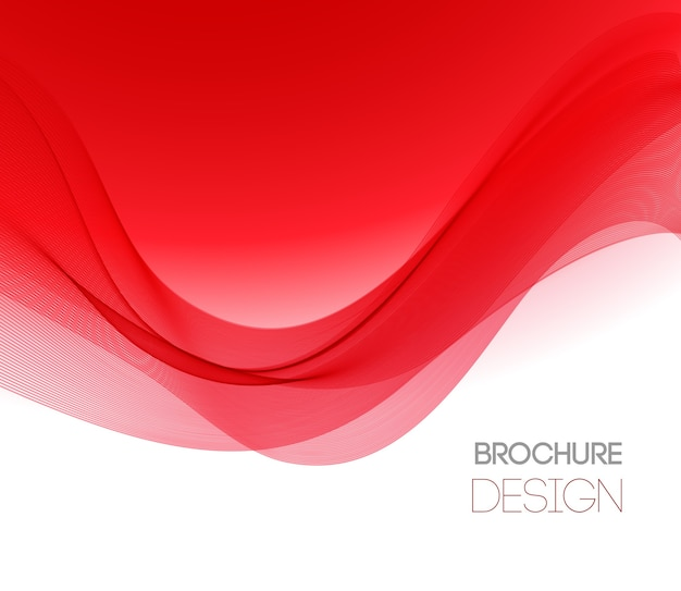 Abstract background with red smooth color wave. color wavy lines