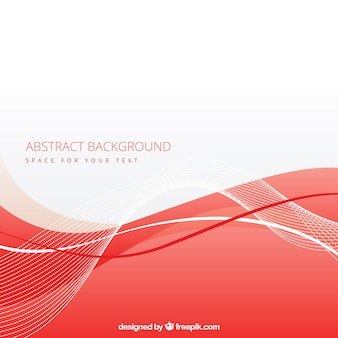 Abstract background with red wave
