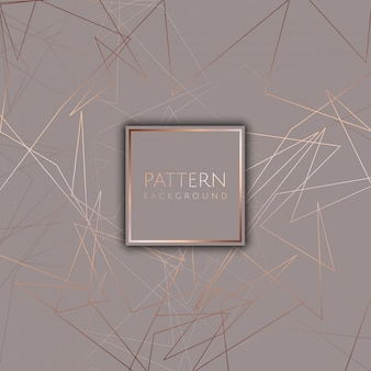 Abstract background with rose gold design