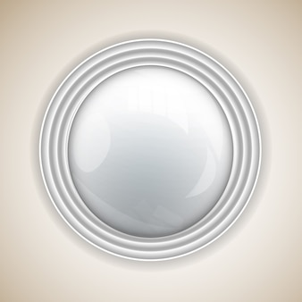 Abstract background with round button for design