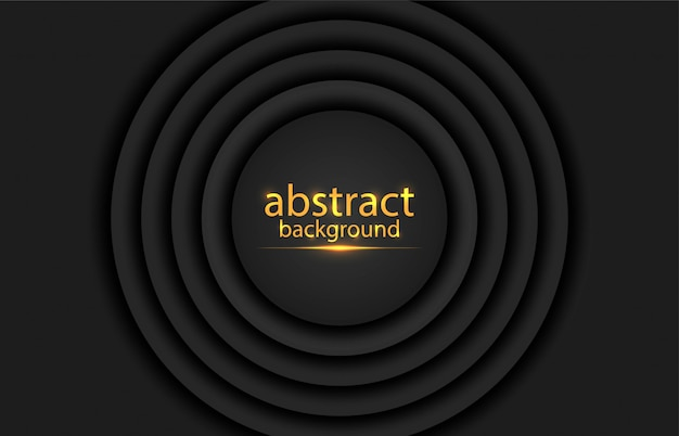 Abstract background with round lines