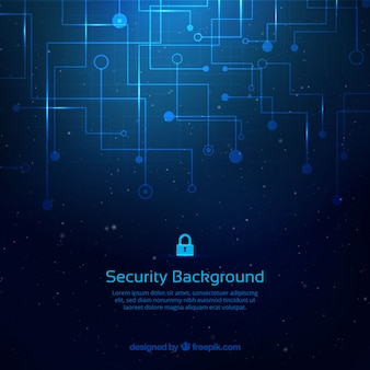 Abstract background with security connections
