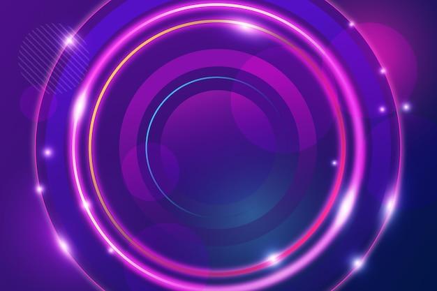 光沢のある円と抽象的な背景