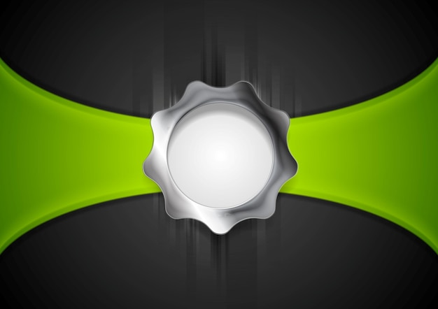 Abstract background with silver gear shape. vector illustration