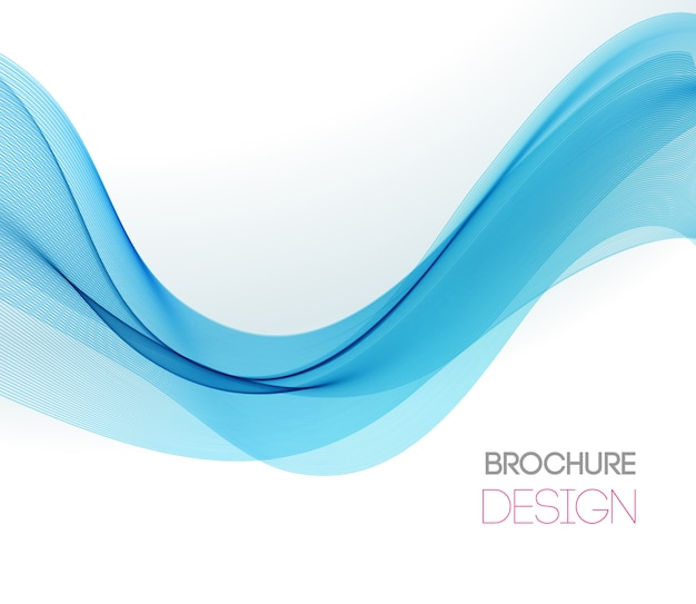 Abstract background with smooth color wave. smoke wavy lines