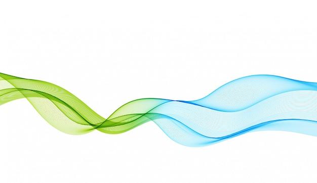 滑らかな色の波と抽象的な背景
