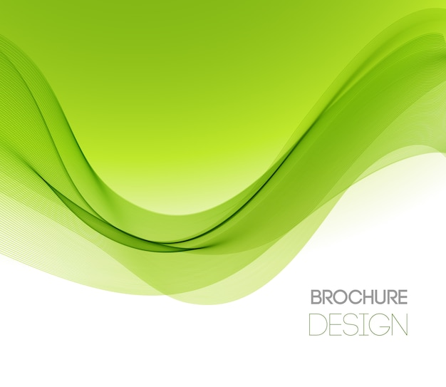 Abstract background with smooth green wave