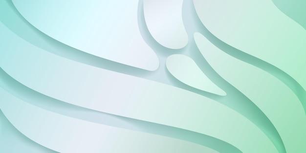 연한 녹색 색상의 부드러운 물결 모양이 있는 추상 배경