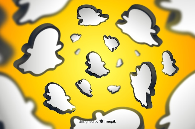 Abstract background with snapchat logo
