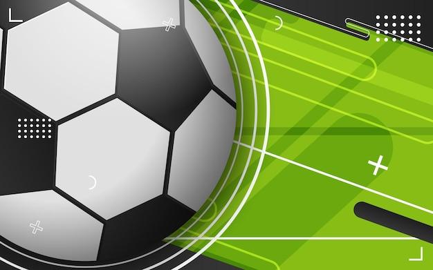 サッカーボールの抽象的な背景
