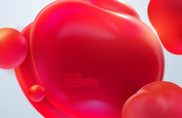 Абстрактный фон с мягкими красными пузырями