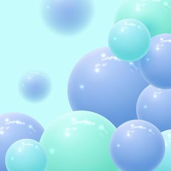 Абстрактный фон со сферами