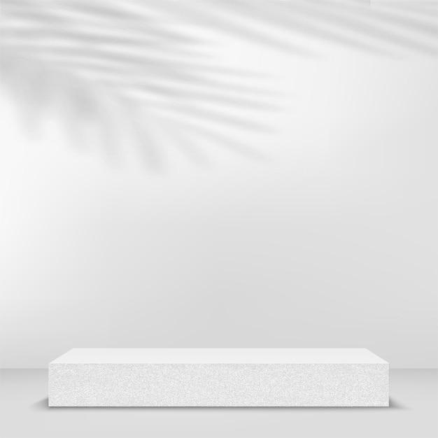 石の幾何学的な3d表彰台と抽象的な背景。ベクトルイラスト。