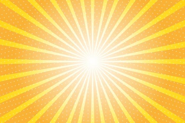 太陽光線と抽象的な背景。