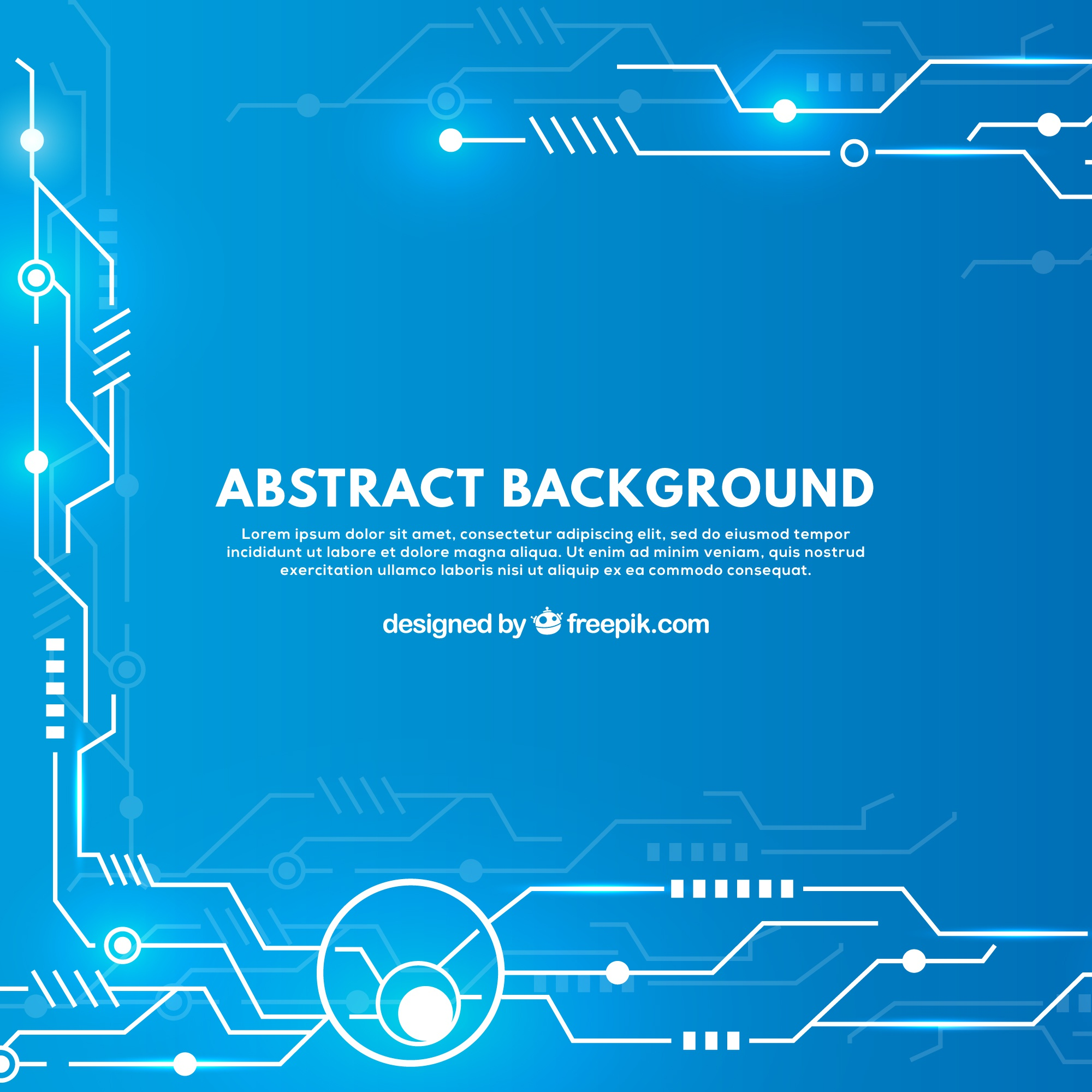 Abstract background with technological circuits