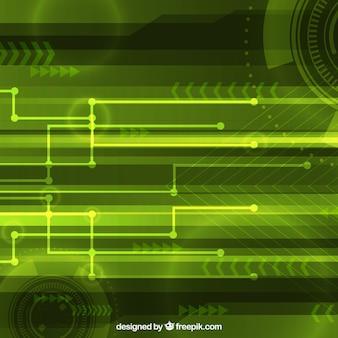 기술적 형태와 추상적 인 배경