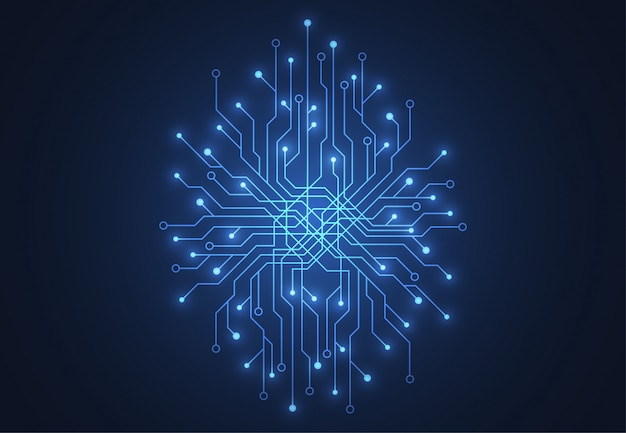 Abstract background with technology brain circuit board
