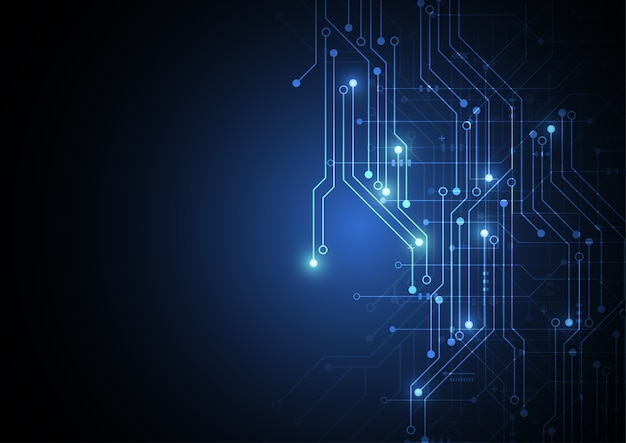 Abstract background with technology circuit board texture