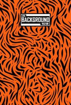 Абстрактный фон с рисунком тигра