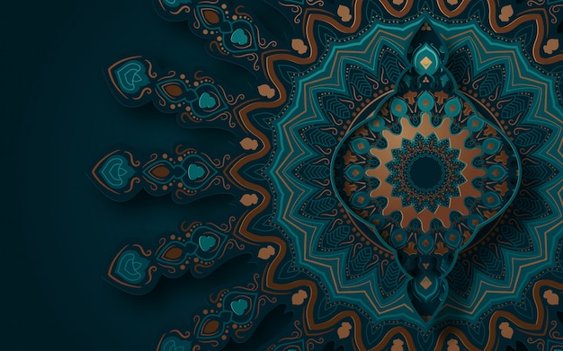 Abstract background with traditional ornament.