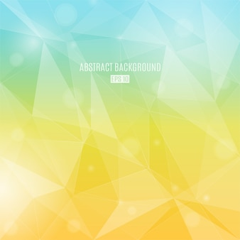 Abstract background with transparent triangles in autumn colors